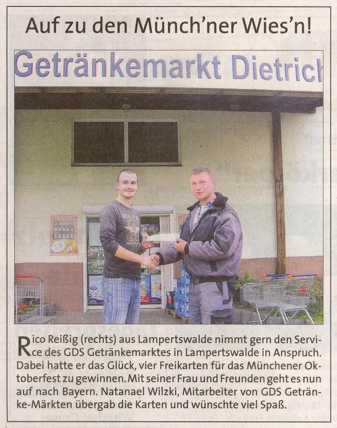 GDS Getränkemärkte - Presse